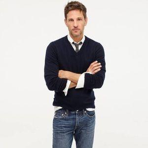J. Crew men's slim Merino wool v-neck sweater